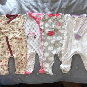 Other - {BABY} [bundle of 4] 3-6M Footie Pajamas